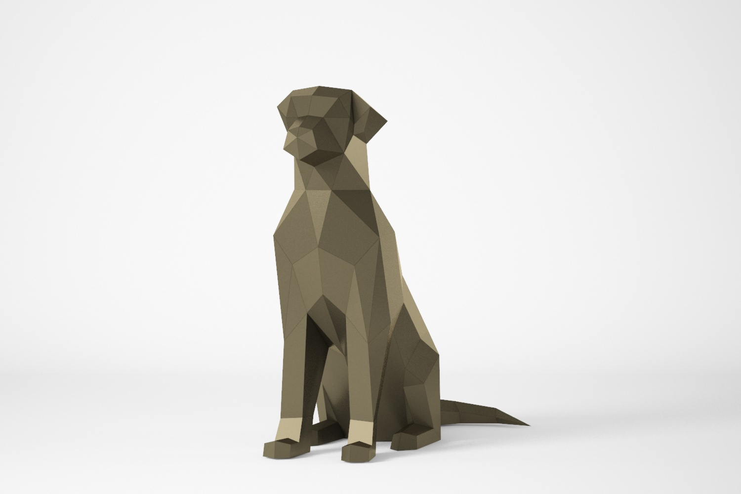 Chien polygonal assis